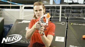 NERF FIRST MEGA CycloneShock Blaster Review w Lord Drac - Walmart Exclusive