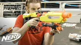 NERF FIRST NERF RIVAL Jupiter Blaster Review w Lord Drac - Walmart Exclusive