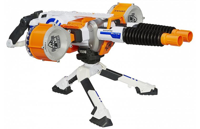 Nerf N-Strike Elite *Hail-Fire* Motorized Blue Blaster Gun - Tested - Works