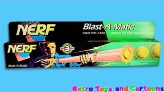 Nerf Blast-A-Matic 1990 Commercial Retro Toys and Cartoons