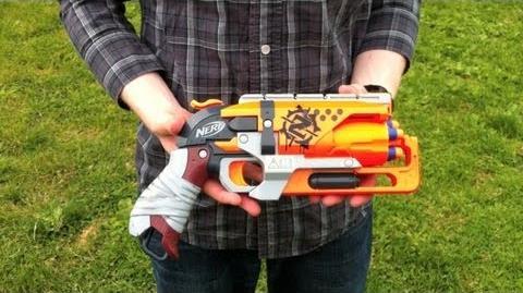 Nerf ZombieStrike HammerShot - Range Test (Stock)