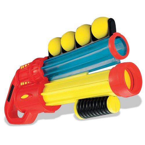 Double Shot gun, yellow nerf gun, 2 green nerf guns, purple gun,
