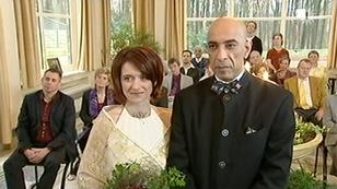 Bruiloft van Mo Fawzi en Veronique Van Sevenant