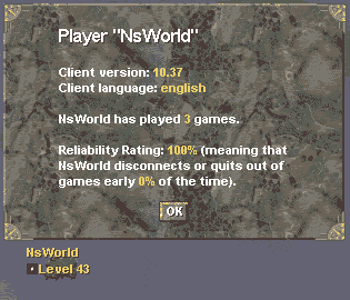 Player info