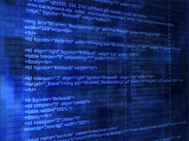 Horiz - blue internet code