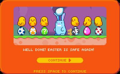 Ending of egg blast