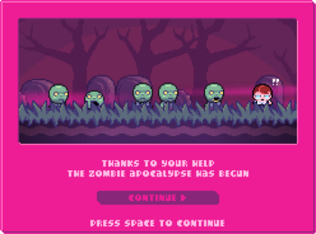 Look at all the cute zombies!