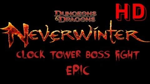 Neverwinter Clock Tower Epic Boss Fight - Control Wizard