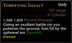 Terrifying Impact