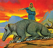 Tarasque and St Martha, Angus McBride