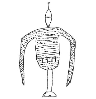 File:La Rubia's drawing of one of the unipodial robot aliens, APRO Bulletin.jpg