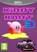 Kirby Kart 3 Carátula Wii V
