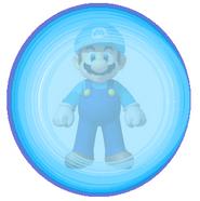 AquaMario en una Burbuja