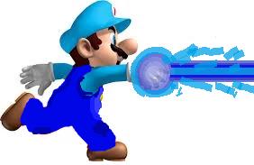 Mario lanzando Agua