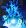 Icono del ojo en llamas