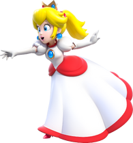 Fire Princess Peach Artwork (alt) - Super Mario 3D World