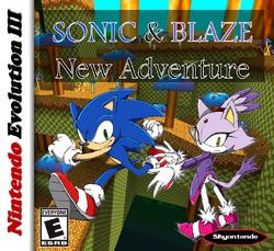 Sonic & Blaze New Adventure Caratula By Silver & Company