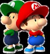 Bebé Mario y Luigi SSBR