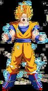 Goku super saiyan 2 render by odinanimation-d9opviw