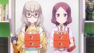Shizuku and Rin with donuts