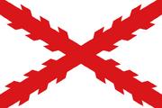 Flag of Cross of Burgundy svg