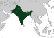 Location of Indian Subcontinent svg