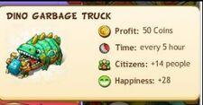 Dino garbage truck