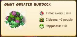 GiantGreatBurdockReward