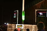 A giant pickle is lowered in Mount Olive, North Carolina