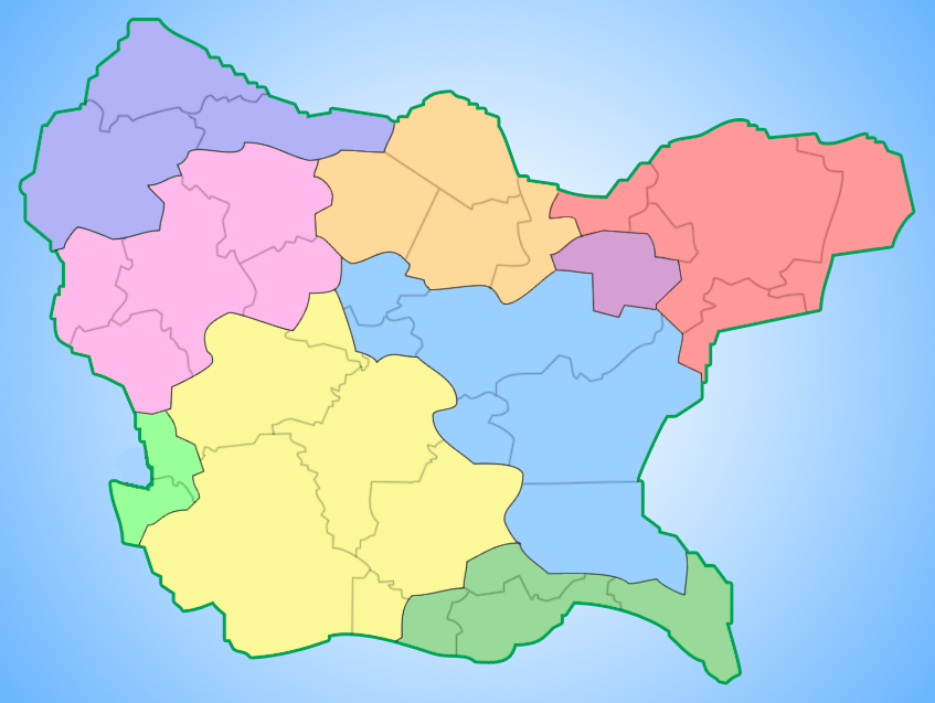 Administrative division of the Republic of Navonia New Continent