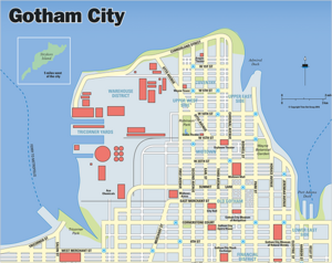 Gotham City DC Comics Extended Universe Wiki FANDOM Powered By - Dc universe us map