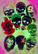 Skull Suicide Squad Poster Textless