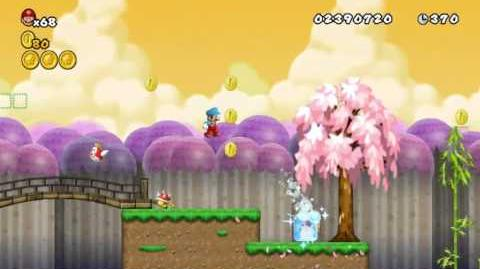 Newer Super Mario Bros Wii World 4-4 Petal Lake Star Coins & Secret Exit