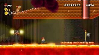 Newer Super Mario Bros Wii World 8-6 Volcano Rapids