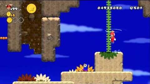 Newer Super Mario Bros Wii World 7-3 Beanstalk Ascent