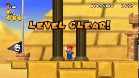 Newer Super Mario Bros Wii World 2-7 Windworn Dunes Star Coins