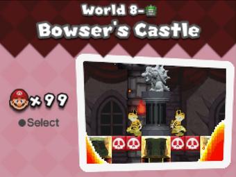 Bowser S Castle Newer Super Mario Bros Ds Newer Super Mario