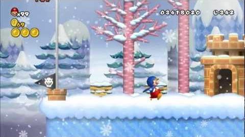 Newer Super Mario Bros Wii World 5-3 Frosty Highlands Star Coins
