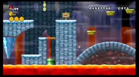 Newer Super Mario Bros. Wii 100%- World 5 - Freezeflame Glacier & Volcano