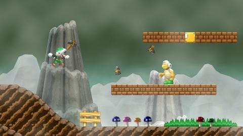 Mushroom Peaks Newer Super Mario Bros Wiki Fandom