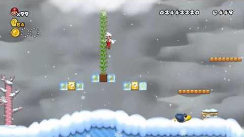 Newer Super Mario Bros Wii World 5-4 Frostbite Ridge Star Coins