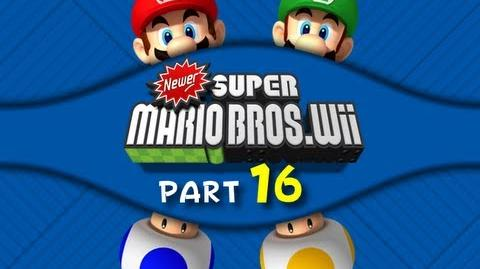 Newer Super Mario Bros. Wii - WALKTHROUGH - Part 16 (Longest world eveeeeeeeeer)