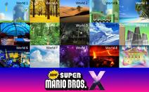 New Super Mario Bros. X worlds part 1