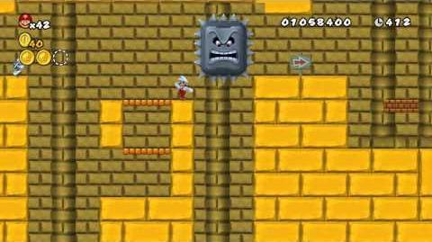 Newer Super Mario Bros. Wii World 2-Castle Pyramid Castle Star Coins
