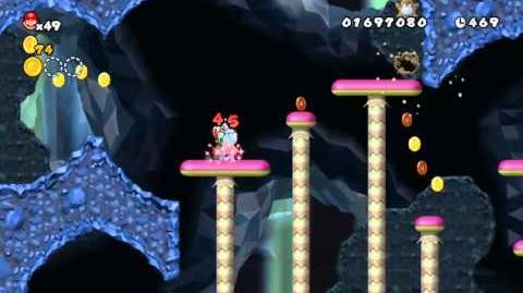 Newer Super Mario Bros Wii World 3-2 Grimymole Mine Star Coin