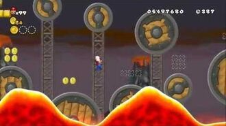 Newer Super Mario Bros Wii World 8-4 Molten Airship