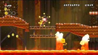 Newer Super Mario Bros Wii World 8-7 Magmaworks Factory