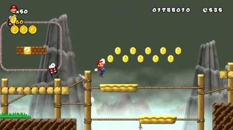 Newer Super Mario Bros Wii World 3-3 Butterwood Crossing Star Coins & Secret Exit