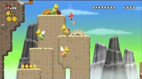 Newer Super Mario Bros Wii World 7-2 Paratroopa Peaks