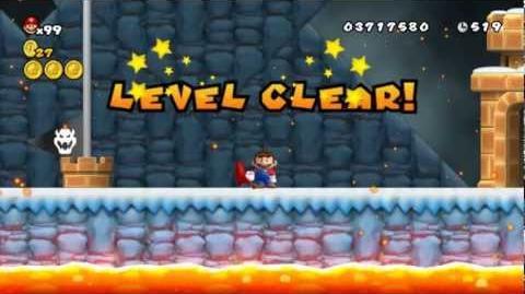 Newer Super Mario Bros Wii World 5-A Lavafrost Cavern Star Coins